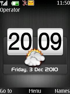 Square Clock Mobile Theme