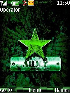 Green Army Star Mobile Theme