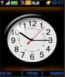 Analog Flash Clock Mobile Theme