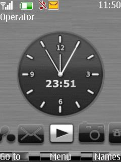 Silver Clock Mobile Theme