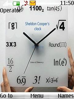 Maths Clock Mobile Theme