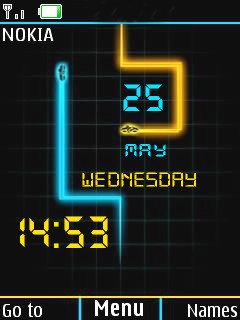 Fully Digital Clock Mobile Theme