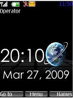 Globe Clock Mobile Theme