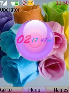 Roses Clock Mobile Theme