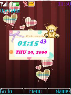 Heart N Teddy Mobile Theme