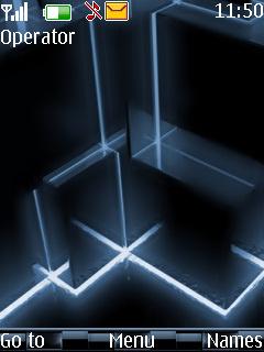 Matrix Cubes Mobile Theme