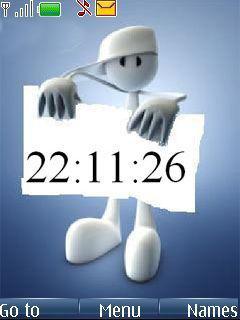 Banner Clock Mobile Theme