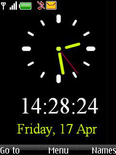 Simple Black Clock Mobile Theme