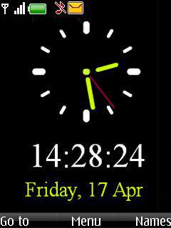 Simple Black Clock Mobile Theme