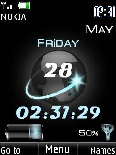 Amazing Clock Mobile Theme