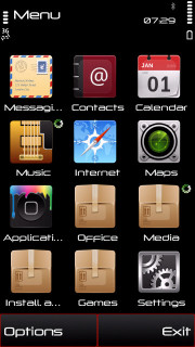 Black  Mobile Theme