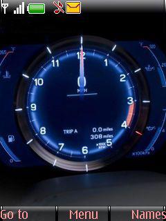 Speedometer Clock Mobile Theme