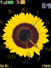 Sunflower Clock Mobile Theme