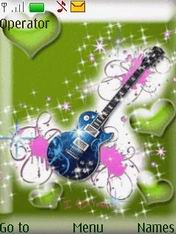 Animated Guitar Mobile Theme