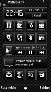 Black Icons Mobile Theme