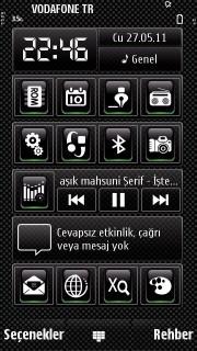 Black Icons Mobile Theme