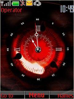Sharingan Clock Mobile Theme