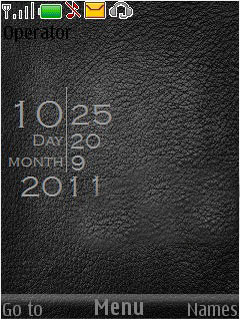 Black Leather Mobile Theme