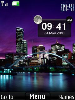 City Lights Clock Mobile Theme