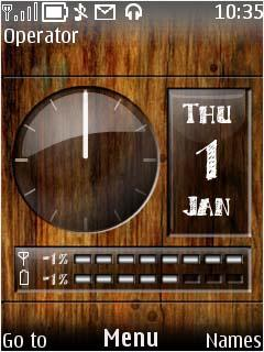 Wooden Dash Mobile Theme
