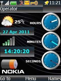Super Nokia Clock Mobile Theme