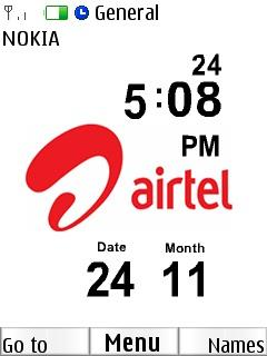 Airtel Clock Mobile Theme