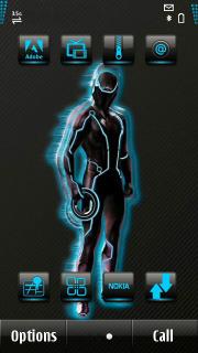 Fluorescent Blue Mobile Theme