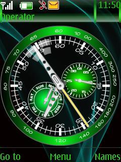 Green Time Clock Mobile Theme
