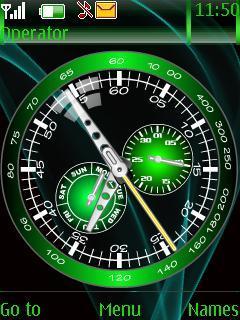 Green Time Clock Mobile Theme