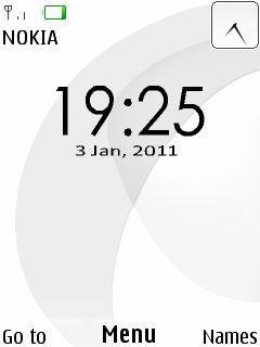 Original Nokia Clock Mobile Theme