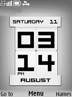 Pixed Clock Mobile Theme