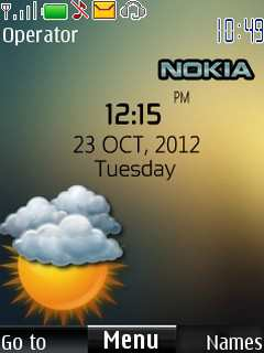 Nokia Digital Clock Mobile Theme