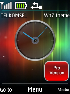 Colors Abstract Clock Mobile Theme