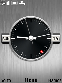 Clock Silver Mobile Theme