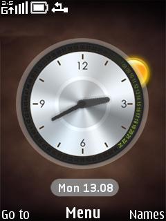 Digilog Clock Mobile Theme