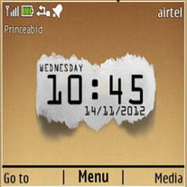 Bit Paper Clock Mobile Theme