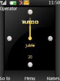 Black Rado Clock Mobile Theme