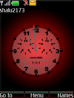 Swf Simply Red Clock Mobile Theme