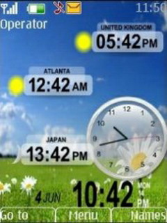 World Clock Mobile Theme