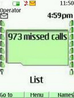 Missed Calls Mobile Theme
