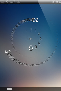 LS Circular Clock IPhone Theme Mobile Theme