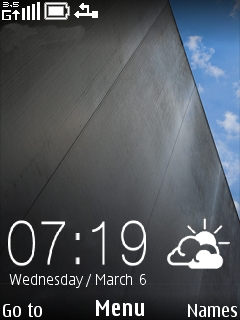 Black And Sky Clock Nokia Theme Mobile Theme