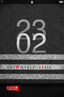 Black Locked Clock IPhone Theme Mobile Theme