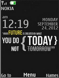 Future Clock S40 Theme Mobile Theme