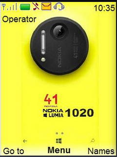 Yellow Lumia Clock S40 Theme Mobile Theme