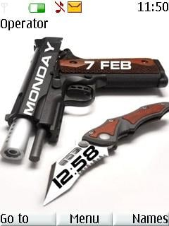 Weapon Clock S40 Theme Mobile Theme