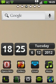 Wood Htc Style ICons Android Theme Mobile Theme