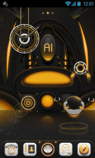 AI Super Machine For Android Theme Mobile Theme