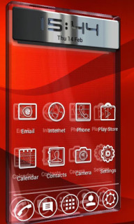 Red Phones Launcher Android Theme Mobile Theme