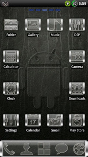 Black Glassy Droid Android Theme Mobile Theme